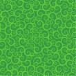 Seamless green swirls pattern — Stock Vector