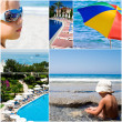 Tourist resorts and sea landscapes in summer time — Stock Photo