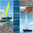 Stock Photo: Sewaves and yachts during holiday period