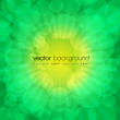 Vector green shiny explosion background — Stock Vector