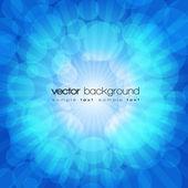 Vector blauwe glimmende explosie achtergrond — Stockvector