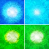 Set of colorful abstract backgrounds - vector illustration — Stock Vector