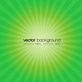 зеленый закат векторный фон и текст — Cтоковый вектор