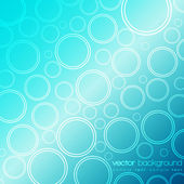 Abstract blue circles vector background — Stock Vector