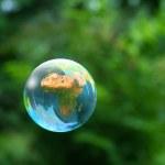 Globe in air — Stock Photo