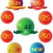 Royalty-Free Stock Vector Image: Glossy sale tag stickers with discount