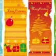 Vector vertical christmas banners — Stock Vector