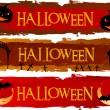 Set of Halloween banners — Vector de stock