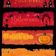 4 Halloween banners — Stock Vector