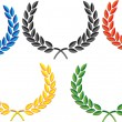 Laurel wreath vector — Vector de stock #11095512