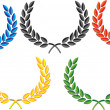 Stock Vector: Laurel wreath vector