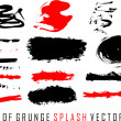 Set of grunge splash — Stock Vector