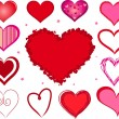 Vector valentine hearts — Stock Vector