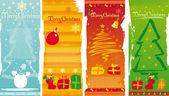 Vector vertical christmas banners — Stock Vector