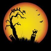Silhueta de Halloween — Vetor de Stock