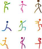 Illustration vectorielle des activites humaines abstraites — Vecteur