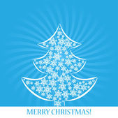 Christmas tree by snowflakes vector — Stock Vector