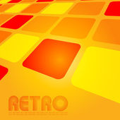 Retro style cover in vector — Vecteur
