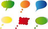 набор красочных пузырьков речи векторный дизайн — Cтоковый вектор