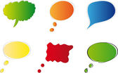 Zestaw kolorowych baniek dla mowy wektor wzór — Wektor stockowy