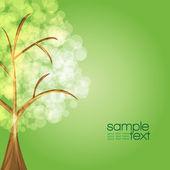 Kleurrijke boom met groene achtergrond - vector — Stockvector