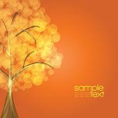 Kolorowe drzewa z pomarańczowo brązowym tle - wektor — Wektor stockowy