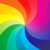 Rainbow swirly background - vector — Stock Vector
