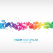 Colorful circles vector background — Stock Vector