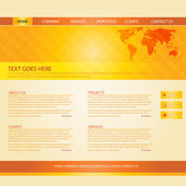 Colorful Website Template — Stock Vector