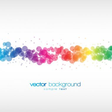 Colorful circles vector background