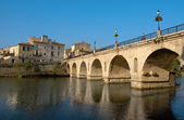 Sommieres bridge — Stock Photo