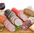 Varieties of sausages — Stock Photo #13912540