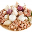 Varieties of onions - Stock Photo