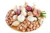 Varieties of onions — Stock Photo