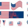 Royalty-Free Stock Imagen vectorial: United States of America flag and buttons