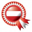 Austria rosette flag — Stock Vector
