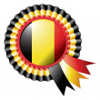 Belgium rosette flag — Stock Vector