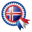 Iceland rosette flag — Stock Vector