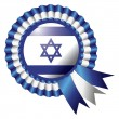 Israel rosette flag — Stock Vector