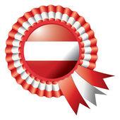 Austria rosette flag — Stock Vector