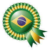 Brazil rosette flag — Stock Vector