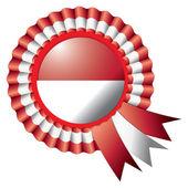 Indonesia rosette flag — Stock Vector