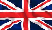 UK waving flag — Stock Vector