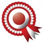 Japan rosette flag — Stock Vector