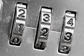 Combination Lock dials — Stock Photo