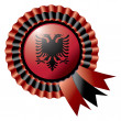 Albania rosette flag — Stock Vector