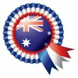 Australia rosette flag — Stock Vector