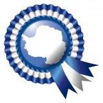 Antarctica rosette flag — Stock Vector #12269425