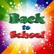Back to school inscription — Stock Vector