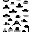 Silhouettes fashion hat vector — Stock Vector #11276390